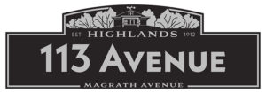Design concept for the Highlands community streetsign blades. Design by Graham Johnson features our canopy of trees and the top of the Owen residence complete with weather apparatus.